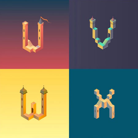 Alphabet-Inspired-by-Monument-Valley_5-640x639