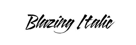 blazing italic