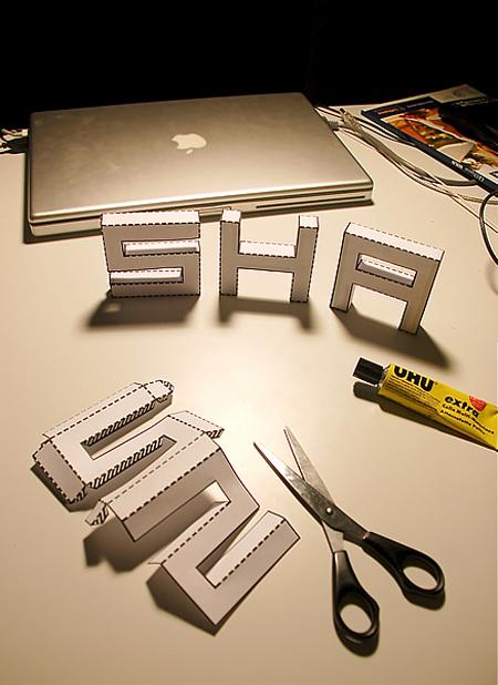3d Letter Diy.Punched Out Diy 3d Font