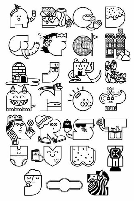 color your own alphabet