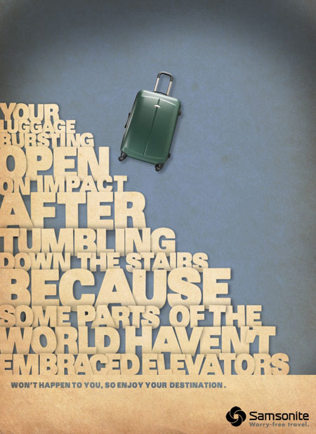 worry free travel student concept advertising