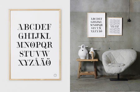 Therese Sennerholt Home : Typographic posters by therese sennerholt