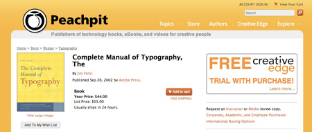 Peachpit-typography