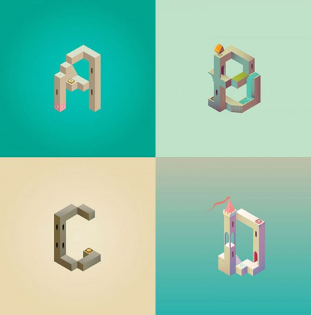 Alphabet-Inspired-by-Monument-Valley_0-640x647