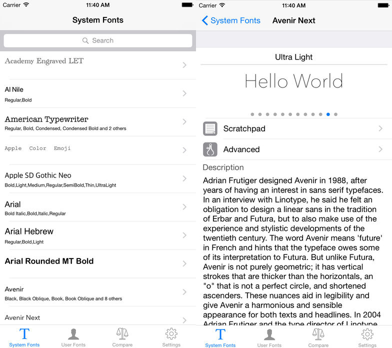 Manage your fonts on iOS with iFont 2 0